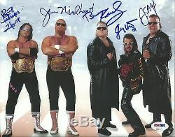 Jim Neidhart Bret Fondation Jimmy Hart Nasty Boys Signed Photo 8x10 Psa / Dna Wwe