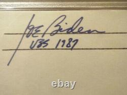 Joe Biden A Signé L'enveloppe Psa/adn Certifié Rare Slabbed 46e Président