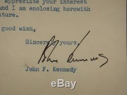 John Kennedy Jfk Lettre Signée 1953 Psa / Dna Authentique Autographiée Rare