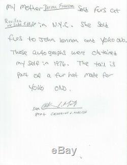 John Lennon 1976 Et Autograph Sketch Psa / Adn Certifié Graded 8/10 Signé Rare