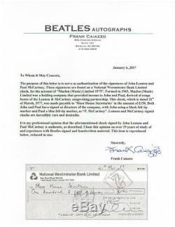 John Lennon / Paul Mccartney Signé Beatles Maclen (musique) Ltd 1975 Vérifier Psa / Adn