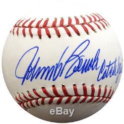 Johnny Bench Dédicacées Signé Lmb Baseball Reds Catch Ya Later Psa / Adn 28147