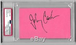 Johnny Cash Signé Autograph 3x5 Card Index Psa / Adn Slabbed Authentique