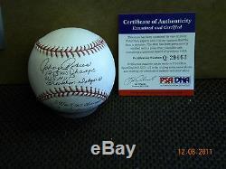 Johnny Podres Brooklyn Dodgers Autographed Baseball Psa / Adn