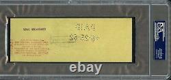 Juin 1962 Walt Disney Signed Irs Tax Personal Bank Check Psa/dna Auto Rare