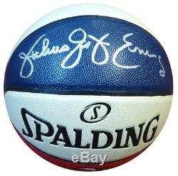 Julius Dr. J Erving Autographié Signé Spalding Aba Basketball Psa / Adn 107479