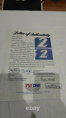 Karl Malone Champion 97 98 Autographié Jeu Émis Jersey Double Signe Psa/adn