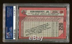 Ken Griffey Jr Signé Autographié Auto 1989 Bowman Rookie # 220 Psa / Adn 27473915