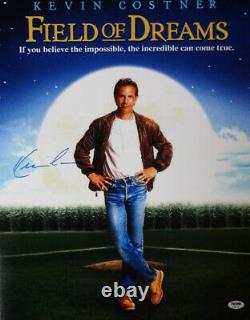Kevin Costner Autographié Signé 16x20 Photo Field Of Dreams Psa/dna 98135