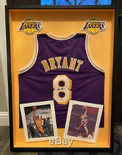 Kobe Bryant # 8 Autographié Signé Frames Los Angeles Lakers Jersey Psa / Adn Coa
