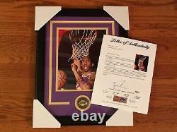 Kobe Bryant 8x10 Encadré Signé Autographe Psa/dna Loa Mamba L. A. Lakers Signature
