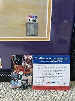 Kobe Bryant Autographié 16x20 Vintage Psa / Photo D'adn Autographe Signé Encadré