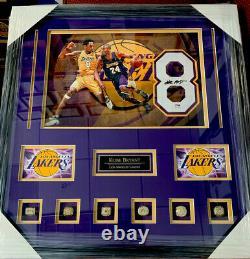 Kobe Bryant La Lakers Signé Rare Authentic Jersey #8 Psa/adn