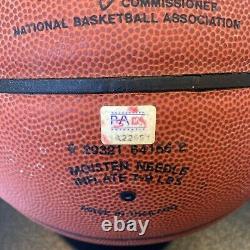 Kobe Bryant Rookie Signé Autographié Spalding Nba Basketball Psa Adn Coa