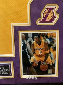 Kobe Bryant Vintage 2001 Nom Complet Autographié Encadré Nike Jersey Psa/dna Coa