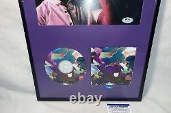 LIL Uzi Vert Vs Le Monde Autograph 8x10 CD Psa/dna Coa Framed Rare 1/1