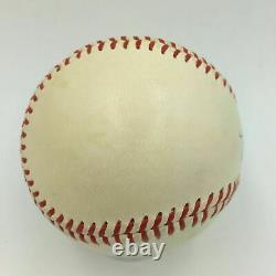 La Plus Belle Babe Ruth Single Signé Ligue Américaine Baseball Psa/dna Mint 8