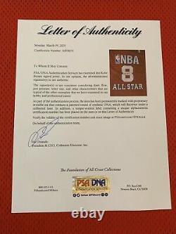 Lakers Kobe Bryant Auto 2003 Nba All Star Jeu Pro Cut Jersey Signé Psa/dna Pe