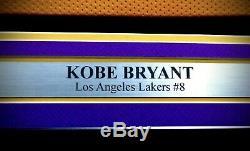 Lakers Kobe Bryant Autographié Signé Jersey Jaune Encadrée Psa / Adn B11902 # 8 Coa
