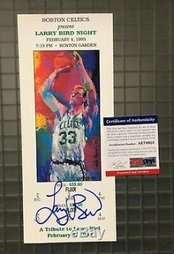 Larry Bird Signé 1993 Ticket Autographié Auto Psa / Adn Coa Boston Celtics Hof