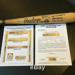 Le Finest Mark Mcgwire 1988 Jeu Signé Utilisé Baseball Bat Psa Adn Coa Gu 10