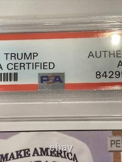 Le Président Donald Trump A Signé Rookie Card, Psa/dna Certified, Slabbed, Rare