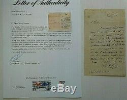 Le Président John Tyler Handwritten Et Signé Lettre 20 À M. Cheever Juillet Psa / Adn