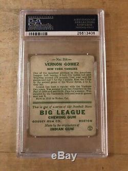 Lefty Gomez Autographié Signé 1933 Goudey Rookie Card Yankees Psa / Dna 25613406