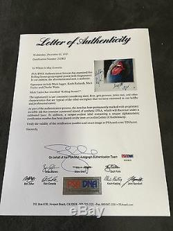Les Rolling Stones Mick Jagger Signés Litho Keith Richards Autograph Psa / Adn