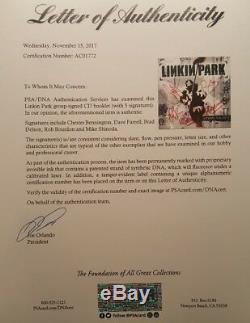 Linkin Park Chester Bennington Groupe De CD Signé Hybrid Theory Autographié Et Signé Psa / Adn