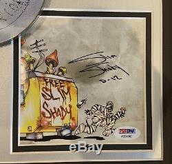 Livret Slim Shady Lp Signé Par Eminem Et Portant L'inscription D-12 Psa / Dna Pro. Encadré