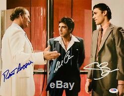 Loggia, Bauer Et Al Pacino Scarface Autographié 11x14 Photo Psa / Adn