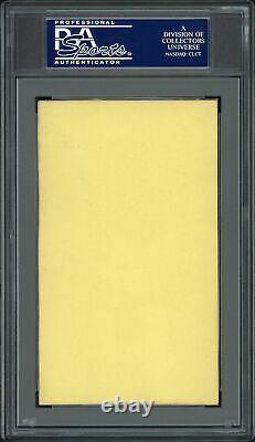 Lou Gehrig Autographié 3x5 Index Card Yankees Auto Année Monnaie 9 Psa / Adn 83858618