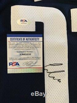 Luka Doncic Déclaration Signée Autographed Jersey Psa / Adn Rare Mvp Mavs