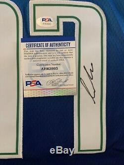 Luka Doncic Signé Autographed Jersey Psa / Dna Ville Édition Rare! Mvp