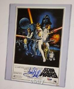 Luke Skywalker Mark Hamill A Signé Une Photo De L'adn De Psa (star Wars A New Hope)