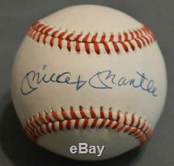 Mantle Yankees Signe Mickey Autographed Baseball Auto Avec Psa / Adn Coa Lettre