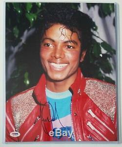 Michael Jackson Photo Dédicacée Psa Dna Loa Autographié King Of Pop 5 Five