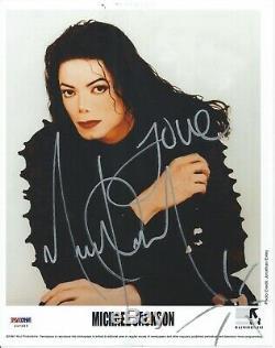 Michael Jackson Psa / Adn Graded 9 Mint Signé 8x10 Photo Autograph Certifié