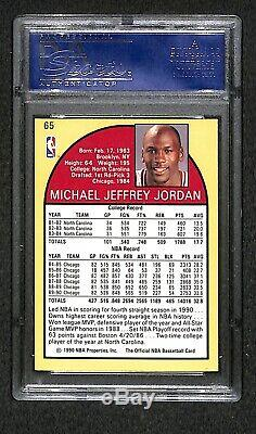 Michael Jordan Autographed 1990 Hoops Carte Preuve Psa / Adn Très Rare Carte Signée