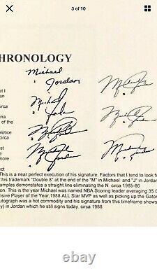 Michael Jordan Early Era Auto Signé Personal Check Psa / Dna Certified Rare Hof