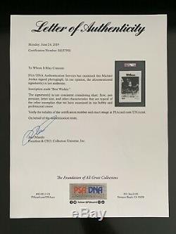 Michael Jordan Originale 1984-1985 Rookie Card Photo Dédicacée Rc Psa / Adn Auto Bulls