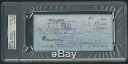 Michael Jordan Signé 1989 Chèque Personnel Psa / Adn Certifié Rare! Autographié