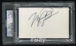 Michael Jordan Signé Autographe Carte 3x5 Auto Rookie Année Psa / Adn Slabbed