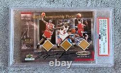 Michael Jordan Upper Deck Uda Signé Jeu Plancher Auto Psa Adn Utilisé # 134/230 Carte