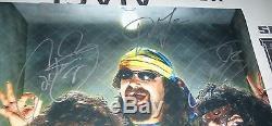 Mick Foley 3x Faces Signé 16x20 Photo Psa / Dna Coa Wwe Image Autograph Ecw Wcw