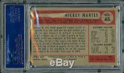 Mickey Mantle Autographié Signé 1954 Carte Bowman # 65 Yankees Psa / Adn 65107655