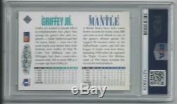 Mickey Mantle Ken Griffey Jr. Carte Double Supérieure Signée 1994 Psa / Dna Classé 9