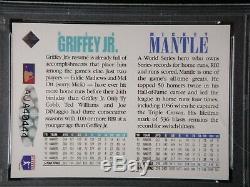 Mickey Mantle Ken Griffey Jr. Double Carte 1994 Signé Upper Deck Psa / Adn Auto 9