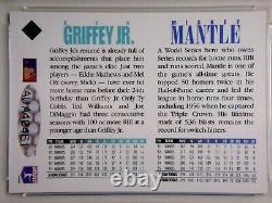 Mickey Mantle & Ken Griffey Jr Dual Signé 1994 Upper Deck Uda Card Psa/dna Auto